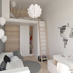 Scandinavian childrens room by mirai studio scandinavian Bedroom Loft, Girls Bedroom, Bedroom Decor, House Inside, Loft Spaces, Living Room Sets, Bed Frame, Home Interior Design, Home Decor