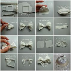 Bow tutorial for a cupcake - by Nivia @ CakesDecor.com - cake decorating website