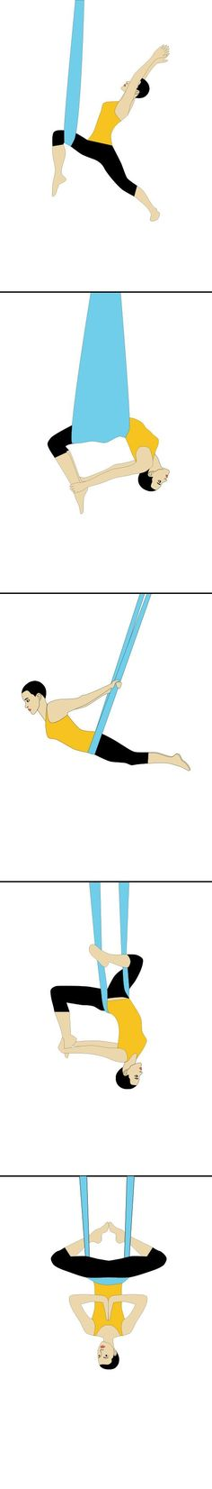 Aerial Yoga Poses, Pose Guide! Antigravity Yoga – Get the at Home Aerial Yoga Kit on Amazon.com!