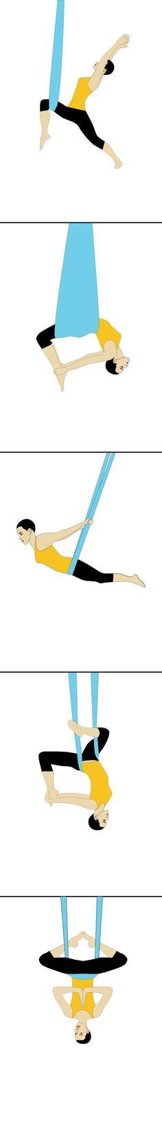 Aerial Yoga Poses, Pose Guide! Antigravity Yoga – Get the at Home Aerial Yoga Kit on Amazon.com!