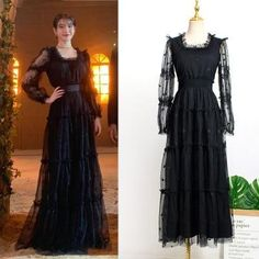 Feeling lavish and extravagant? Be like Jang Man Wol, the CEO of Hotel Del Luna, who loves fancy things just like this dress. Get this latest item inspired from newest Korean Drama Hotel Del Luna to complete your posh look! Korea Fashion, Fashion Line, Kpop Fashion, Luna Fashion, Girl Fashion, Fashion Dresses, Fashion Design, Kpop Mode, Korean Dress