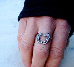 Kissing Seahorse Ring. $60.00, via Etsy. I want this soo bad!