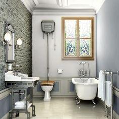 Burlington High Level Toilet - Polished Aluminium Cistern Profile Large Image