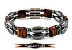 Red Tiger Eye Magnetic Bracelet Hematite Magnetic Beads