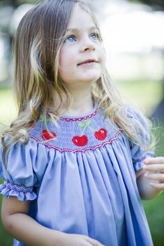 Shirley Temples with cherries on top in the park anyone?  #orientexpressed #cherries #smocking