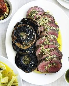 Absolutely anything goes well with horseradish butter. I use it on grilled chicken and salmon as well as beef fillet. Serve this dish as part of a long, leisurely lunch. Mushroom Dish, Mushroom Recipes, Beef Fillet Recipes, Meal Deal, Main Meals, Grilled Chicken, Food Preparation, Food Processor Recipes, Stuffed Mushrooms