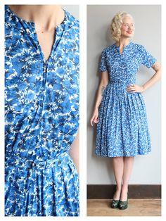 1960s Dress // Waking Light Dress // vintage by dethrosevintage