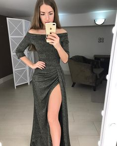 Formal Dresses With Sleeves, Modest Dresses, Elegant Dresses, Prom Dresses, Hijab Dress Party, Sequin Party Dress, Tango Dress, Dressy Outfits, Evening Dresses
