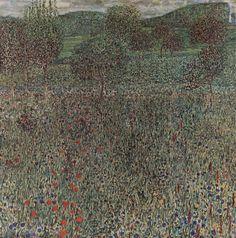 Blooming field, 1909 Gustav Klimt - by style - Art Nouveau (Modern) - WikiArt.org