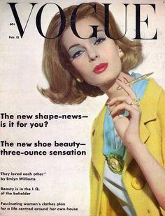 Nena von Schlebrugge on the February 15, 1962 (when Vogue was semi-monthly).