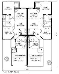 Duplex Plan chp  at COOLhouseplans com   ♡ Homes    Duplex Plan chp  at COOLhouseplans com