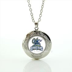 2016 Brand new class locket necklace UNC greensboro Spartans rugby jewelry football  sport accessory for men and boys NF064