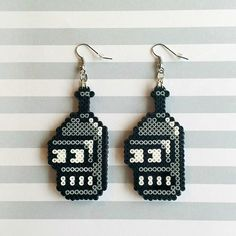 Bender earrings - Futurama hama mini beads by hicelina