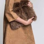 Brown Fox Fur Clutch