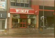 Wimpy Bars - It was such a treat to go in these in the 70's. Anyone remember scampi fritters? Or did I imagine them?