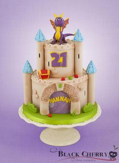 My Fave Spyro the Dragon Castle Cake Ever - by Little Cherry on CakesDecor - http://cakesdecor.com/cakes/109278-spyro-the-dragon-cake#comment_384720
