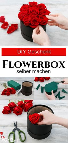 Flowerbox selber machen, perfektes DIY Geschenk - WOMZ This DIY gift is really unique. Making a Flowerbox itself is easy and fast. A great gift idea for Mother's Day, Valentine's Day, Birthday Happy Birthday Cards, Birthday Greeting Cards, Diy Birthday, Birthday Gifts, Diy Gifts For Mothers, Gifts For Coworkers, Mother Gifts, Presents For Boyfriend, Boyfriend Gifts