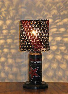 Rockstar Energy Can Lamp With Black and Red Tab by LicenseToCraft, $40.00