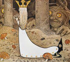 John Bauer - Prinsessan och Trollet - Wall Mural & Photo Wallpaper - Photowall