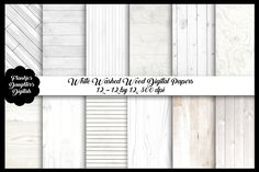 Ad: White Washed Wood Digital Papers by FrankiesDaughtersDesign on White Washed Wood Digital Paper Pack 12 - 12 by 12 inch papers, 300 dpi Perfect for any creative project like scrapbooking, branding Texture Drawing, Paper Texture, Whitewash Wood, Weathered Wood, Rustic Background, Textured Background, Texture Photography, Photography Backdrops, Photography Backgrounds