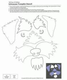 Schnauzer cut out Dog Pumpkin, Pumpkin Ideas, Pumpkin Stencil, Pumpkin Carving, Schnauzer Art, Stained Glass Quilt, Art Assignments, Place Mats Quilted, Fabric Animals