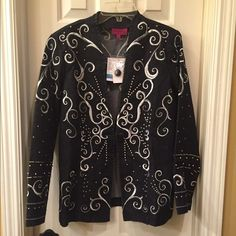 Anttony  NWT embroidered jacket size 6 NWT lightweight jacket has all over embroidered detail Jacket has a 1 button front closure Size 6 retail tags attached no flaws Antonny Jackets & Coats