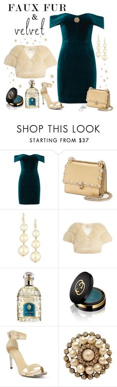 """""""Faux fur and velvet"""" by dgia ❤ liked on Polyvore featuring Nicholas, Fendi, Kenneth Jay Lane, Miu Miu, Guerlain, Gucci and BCBGMAXAZRIA"""