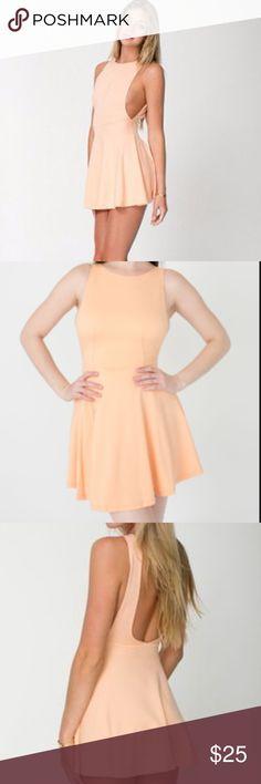 American Apparel Ponte Sleeveless Skater Dress American Apparel Ponte Sleeveless Skater Dress in Peach. Used good condition. American Apparel Dresses Mini