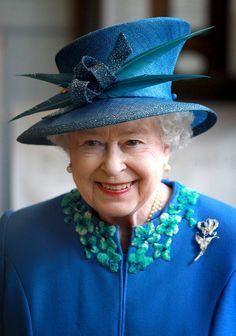 Queen Elizabeth in Wales in April 2010