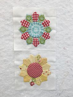 Two different versions of Block 26 of the Splendid Sampler quilt
