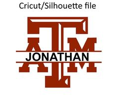 Texas a&m aggies split monogram SVG and Studio diy cuttable Files for Silhouette and Cricut machines instant download