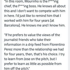 Pep guardiola on Jose Mourinho at the bernabeu as the pair's of relationship soured 2011... #Jose #mourinho #louis #van #gaal #LVG #pep #guardiola #intermilan #barcelona #barca #realmadrid #madrid #chelsea #bayern #bayernmunich #manchesterunited #manu #friends #rivalry #foes #football #greatest #manager #coach's #bernabeu #relationship #soured #2011... by josmooretaiwo