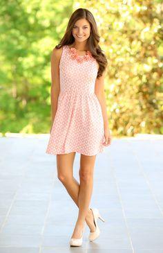 EVERLY:Morning Glory Dress-Candy Pink - $42.00