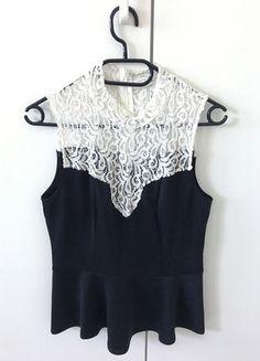 Kaufe meinen Artikel bei #Kleiderkreisel http://www.kleiderkreisel.de/damenmode/kurzarmlig/150576751-schosschentop-von-only-mit-spitze-schoesschentop
