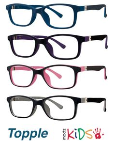 36ee427895 This kid s frame (by Modern Optical Int l) lands squarely between great  style and proven performance. With a color-blocking design in kid-friendly  colors