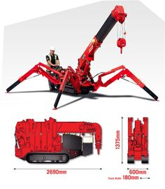 Spider Cranes, Mini Cranes, Crane Hire, Crawler, UNIC Mini Crawler, Lifting solutions in challenging environments in limited or restricted access, Perth WA - Crane Hire