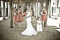 Beach Wedding  Pictures under the pier
