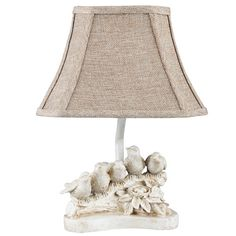 "AHS Lighting Bird Chorus 13"" H Table Lamp with Bell Shade"