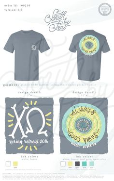 Chi Omega | Chi O | Spring Retreat | Always Good Vibes | South by Sea | Greek Tee Shirts | Greek Tank Tops | Custom Apparel Design | Custom Greek Apparel | Sorority Tee Shirts | Sorority Tanks | Sorority Shirt Designs