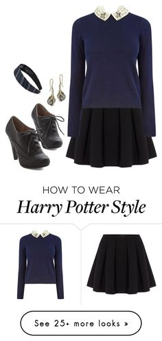 """Ravenclaw"" by hitthisfeeling on Polyvore featuring Polo Ralph Lauren and Oasis"