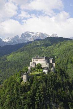 Beautiful Castle Hohenwerfen, Austria