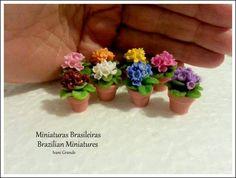 Flowers Miniatures https://www.etsy.com/pt/shop/MiniaturaBrasileira http://ivanigrande.blogspot.com.br/