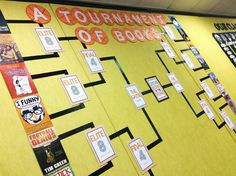The Brown-Bag Teacher: Book Madness {March Book Display} - An amazing blog post about how to set up a Book Tournament!