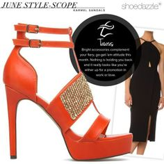 Taurus, stand out in the Karmel sandals! Nothing is holding you back this month! #ShoeDazzle