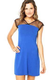 Vestido FiveBlu Recorte Azul - Compre Agora | Dafiti Brasil