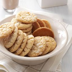 Angel Sugar Crisps Recipe -Whenever I've taken these to church coffees, I've had women come into the kitchen and request the recipe. You'll enjoy this sugar cookie's secret ingredient—brown sugar! —Annabel Cox, Olivet, South Dakota