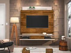 """Painel para TV até 55"""" Deseo Verati 1 Prateleira - Dj Móveis com as melhores condições, você encontra no Magazine Apartamento42. Confira!"""