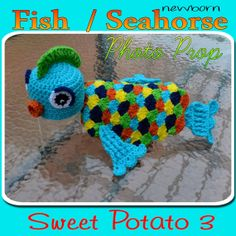 PATTERN Fish / Seahorse Photo Prop - Crochet - newborn