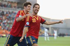 #Isco# #Rojita# Spain during the UEFA European U21 Championships Group B match between Spain and Netherlands at Ha Moshava Stadium on June 12, 2013 in Petah Tiqwa, Israel.