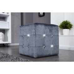 Moderne Hocker moderne hocker monolit antiek bruin 40cm 30157 hockers